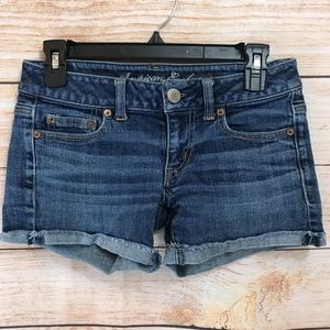 Abercrombie and Fitch Cuffed Jean Shorts 2